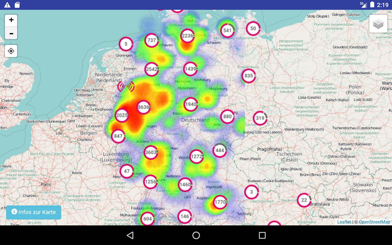 Freifunk-Karte – Screenshot