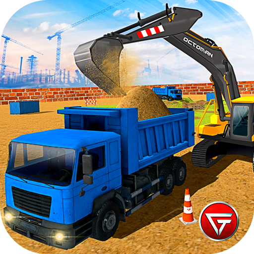 Heavy Excavator Crane Builder-Sand Digger Truck 3D