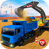Heavy Excavator Crane: Construction City Truck 3D