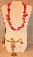 Photo: <BEREHYNYA> {Great Goddess Protectress} unique one-of-a-kind statement jewellery by Luba Bilash ART & ADORNMENT  # 113 MOUNTAIN PASS/ГІРСЬКИЙ ПЕРЕЛАЗ - coral, silver plate $130/set