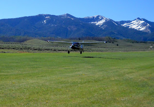 Photo: Alan and Kyle Departing in N2CQ for Breakfast at Sulphur Creek