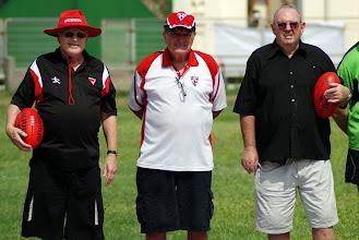 """Photo: Stan Middleton, Ron Vernon and Dick """"Johno"""" Johnston. Photo, Richard Quinn."""