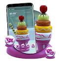 Multicolor Ice Cream Launcher Theme icon