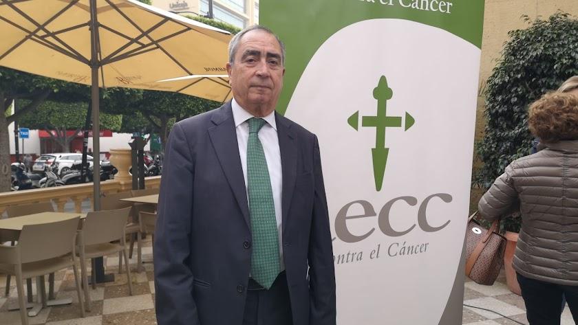 Francisco Balcázar, ex presidente de la Asociación Española Contra el Cáncer en Almería.