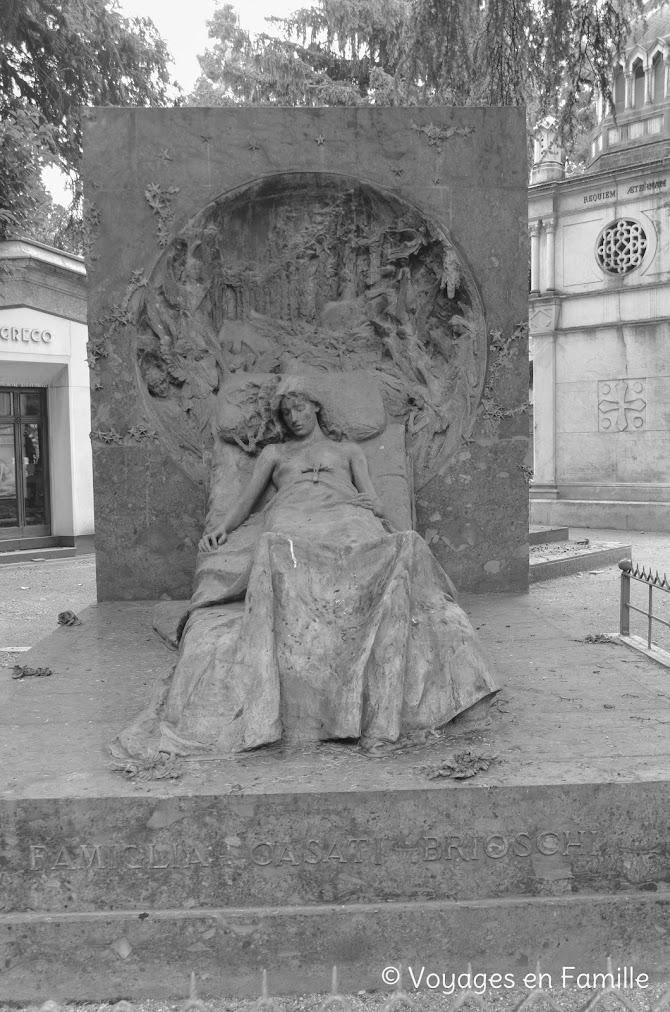 Cimetière Monumental Milan - Isabella Airoldi Casati