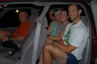 Photo: How many people can you stuff into a Tundra?  Actually, its 5:30 AM and these are the drivers back to town after the run!