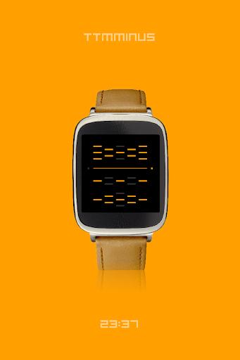 TTMMINUS - watchface to Wear