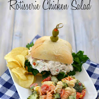 Rotisserie Chicken Salad Recipe made with a store bought chicken.
