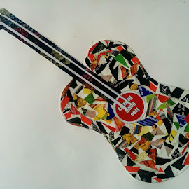 Guitar- paper cutting art by Suresh Kumar - Drawing All Drawing