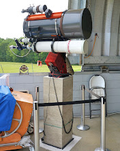 Photo: Each mount accommodates multiple refractor telescopes.