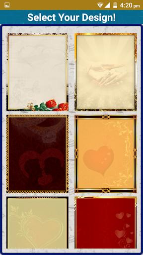 Wedding Invitation Cards Maker Marriage Card App 1.13 screenshots 2
