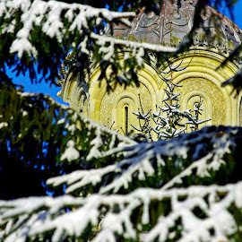 Winter joy of faith  by Ciprian Apetrei - Buildings & Architecture Architectural Detail
