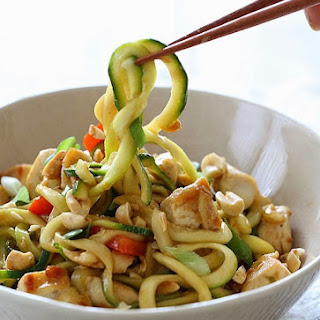 Kung Pao Chicken Zoodles For Two.