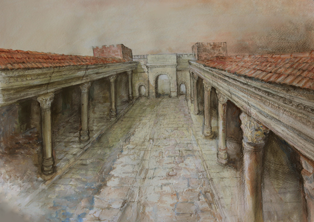 Източна порта на римски Пловдив, художествена реконструкция