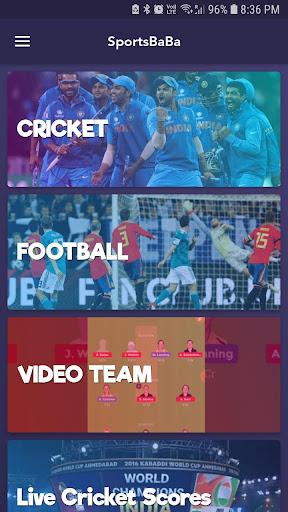 SportsBaBa - Fantasy Team, Live Score & Video 1.0 screenshots 2