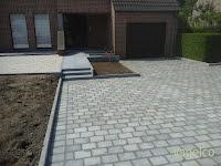 Platines 20/14 gecombineerd met granieten tegels