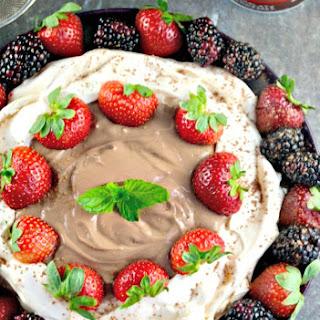 Easy Pavlova Dessert Filled with Chocolate Strawberry Yogurt Recipe