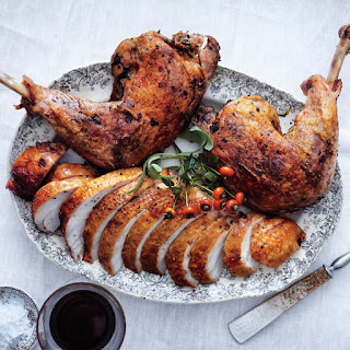 Brined Roast Turkey Breast with Confit Legs