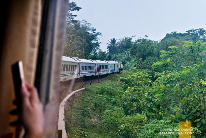 Train Jakarta to Bandung Scenery