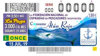 El cupón de este lunes estaba dedicado al atún rojo.