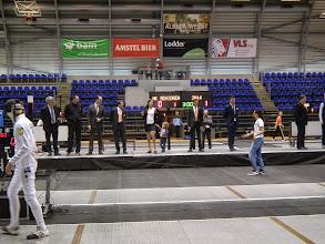 Photo: De scheidsrechters in Oger op het podium, met de regiseuse oefenen voor de modeshow...