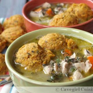 Chicken Stew and Sweet Potato Dumplings