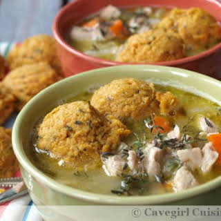 Chicken Stew and Sweet Potato Dumplings.