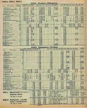 Photo: Rozkład jazdy pociągów z 1945 r.
