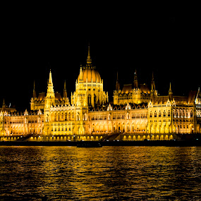 The Hungarian Parliament in Budapest by Kajcsa Norbert - Buildings & Architecture Public & Historical ( lights, hungary, parliament, budapest, architecture )