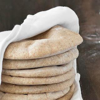 Homemade Whole Wheat Pita Bread.