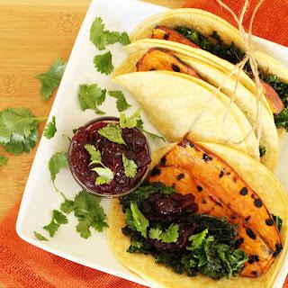 Vegetarian Thanksgiving Tacos.