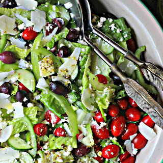 Greek Salad + {the best} Feta Vinaigrette