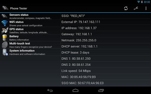 Phone Tester (hardware info) screenshot 10
