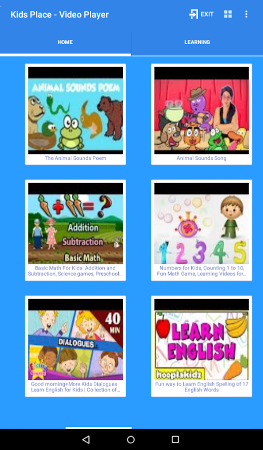Kids Safe Video Player- screenshot