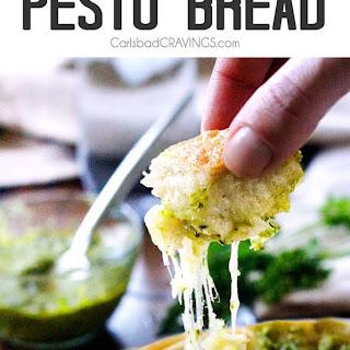 Cheesy Pull Apart Pesto Bread.