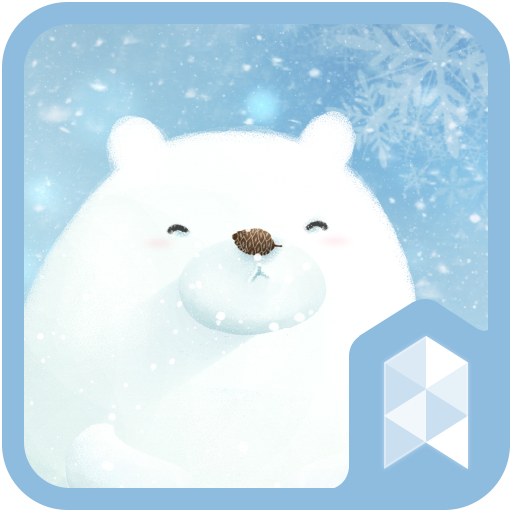 Bear has winter Live Launcher theme (app)