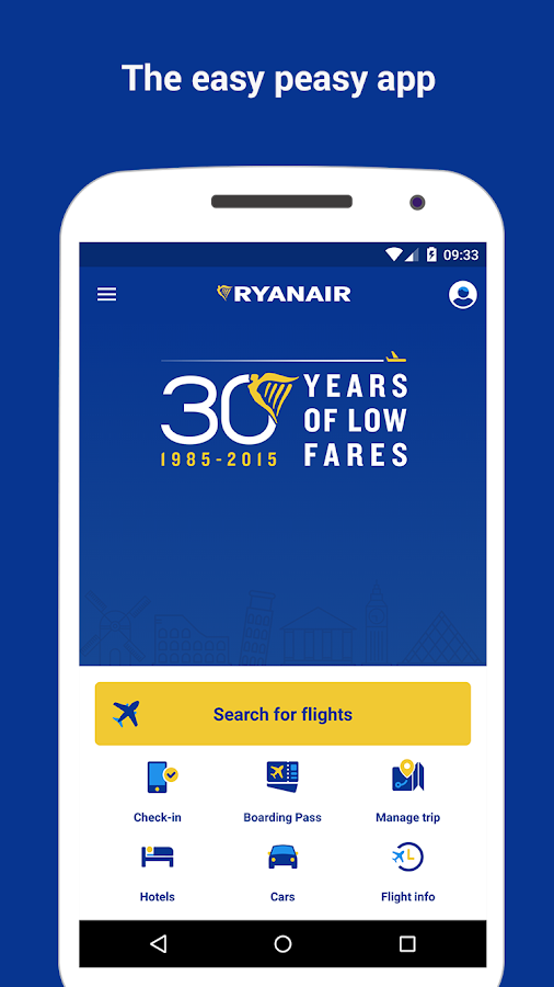 Ryanair - Cheapest Fares- screenshot