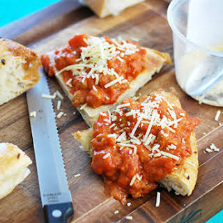 Sausage & Pepperoni Pizza Bruschetta.