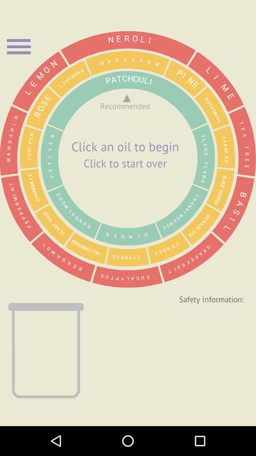 Essential Oil Blending Tool- screenshot