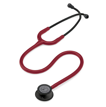 Littmann Classic III Stethoscope Black-Finish Chestpiece W- Burgundy Tube