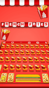 French Fries Keyboard Theme - náhled