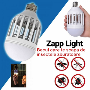 Bec LED antiinsecte cu lampa UV 9W,  Zapp Light