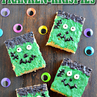 Frankenstein Rice Krispies Treats for Halloween