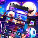 Dream Night 3D Shiny Moon Theme⛩ icon