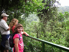 Photo: Observation point for the La Fortuna Waterfall