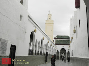 "Photo: this is the Mausoleum of Moulay Idriss which is considered the holiest place in Morocco... every late August, a great Muslim festival called ""moussem"" is held here..."