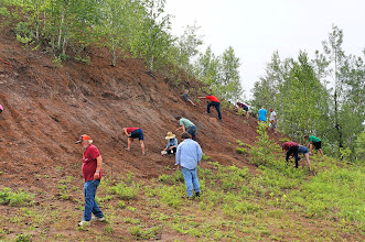 Photo: At the Cretaceous Ore Pile, we hunt for fossils, searching for sharks' teeth, clams, and other ocean critters.