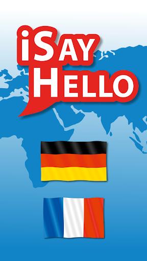 iSayHello German - French free 3.1.1 screenshots 1
