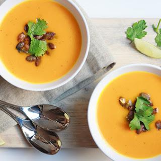 Pumpkin, Ginger & Kaffir Lime Soup
