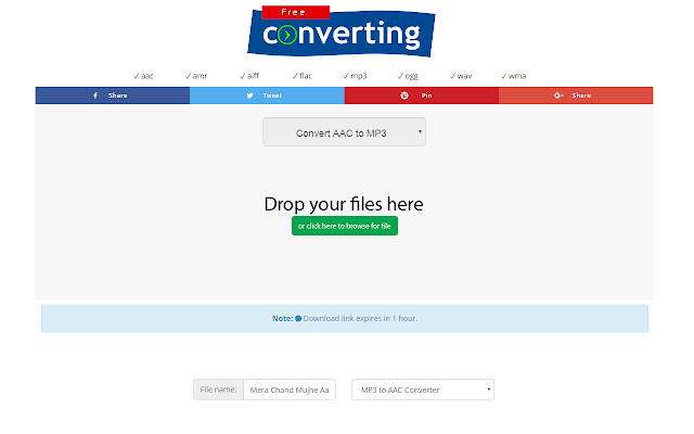 convert aac file to mp3 online free